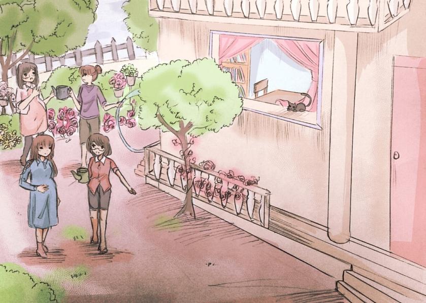 Một công trình phúc lợi xã hội của Nghiệp đoàn giáo chức VN trong tương lai. Hình minh họa bởi Cỏ Mùa Thu