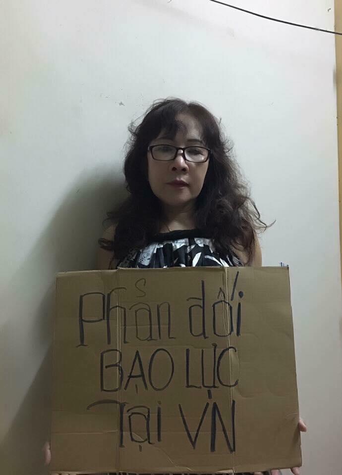 Cô giáo Nguyễn Thị Thái Lai phản đối bạo lực tại ViệtNam