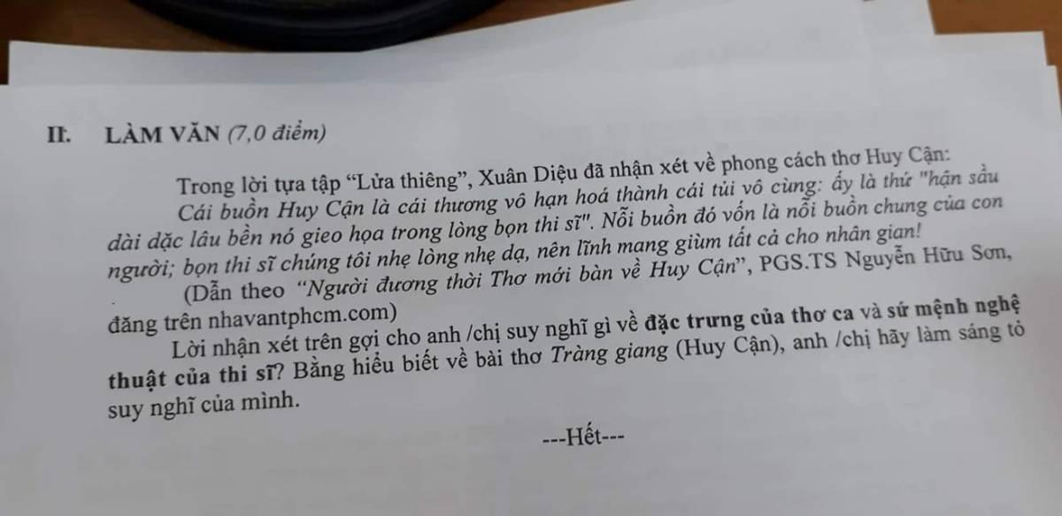 Đề văn hay dành cho các giáo viên ngữvăn