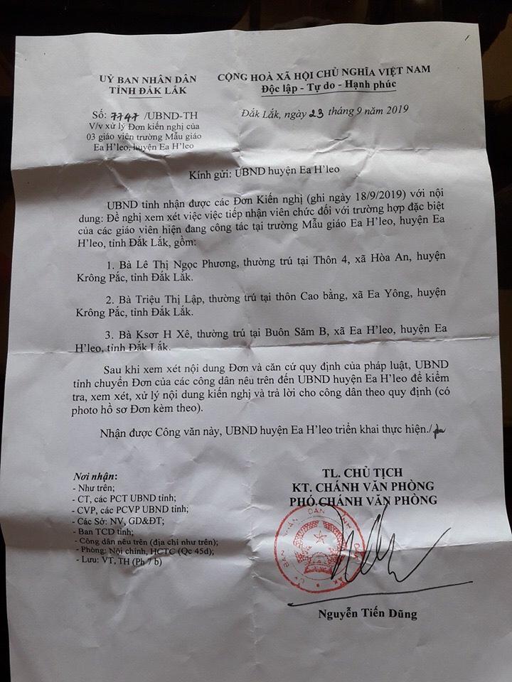 Huyện EA H'Leo, Đăk Lăk không áp dụng thông tư 03/2018-TT-BNV xét tuyển dụng đặc cách cho giáo viên hợp đồng dài hạn từ 5 năm trởlên?